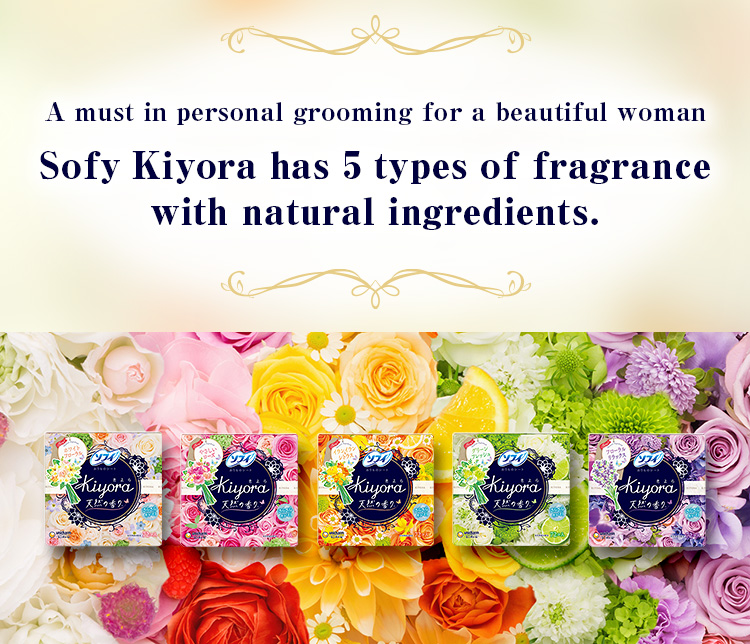 A must in personal grooming for a beautiful woman. Sofy Kiyora has 5 types of fragrance with natural  ingredients.