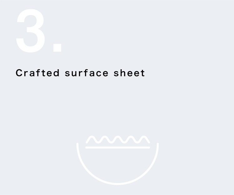 Crafted surface sheet