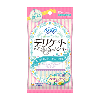 Sofy Delicate Wet Wipes Sofy Delicate Wet Fresh Green Aroma