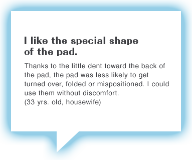 I like the special shape of the pad.